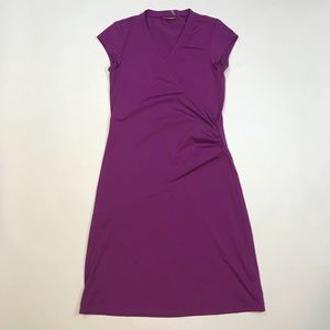 Athleta Nectar Faux Wrap Dress Purple Sz Small